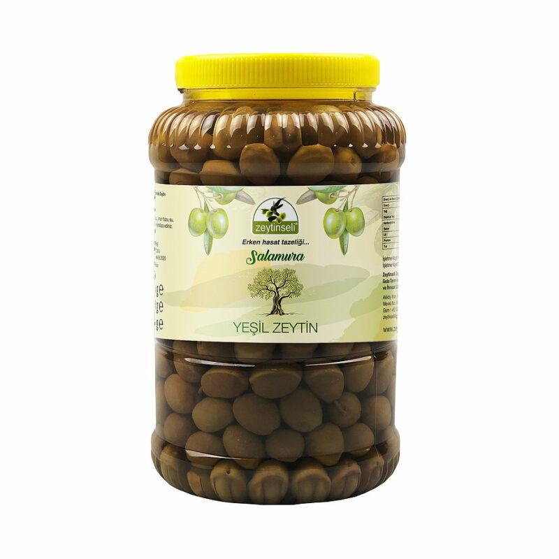 1 115 - Yeşil Kırma Zeytin Kaya Tuzlu - 2 kg