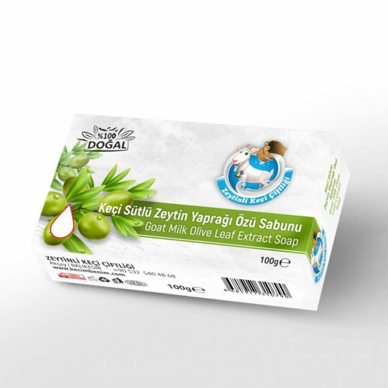 1 144 - Keçi Sütlü Zeytin Yaprağı Özü Sabunu - 100 gr