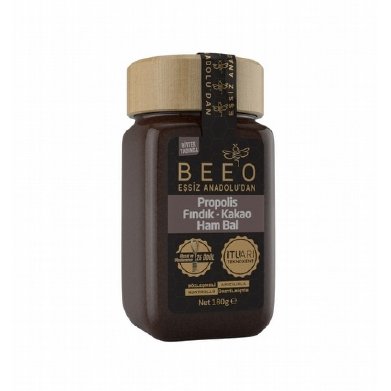 1 2 - Beeo Propolis Fındık Kakao Ham Bal - 180 gr