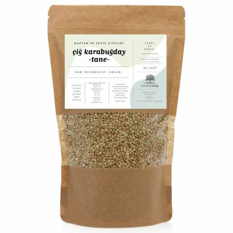 1 31 - Yerli Çiğ Karabuğday Tane - 1 kg