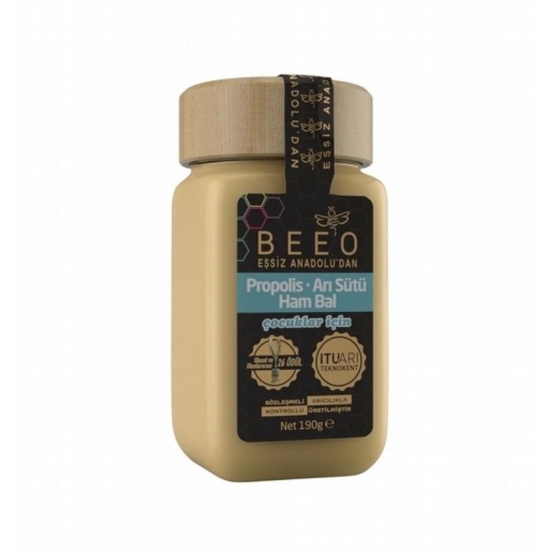 Beeo Propolis Ari Sutu Ham Bal Karisimi Cocuklar Icin - Beeo Propolis Arı Sütü Ham Bal Karışımı (Çocuklar İçin) - 190 gr
