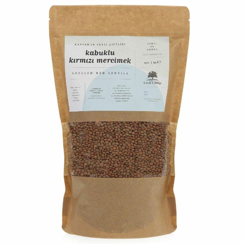 k2 3 - Yerli Tohum Kabuklu Kırmızı Mercimek - 1 kg