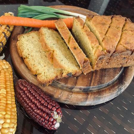 sebzeli misir ekmegi